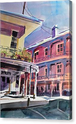 Hues Of The French Quarter Canvas Print by Spencer Meagher