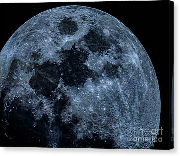 Huge Blue Moon Canvas Print