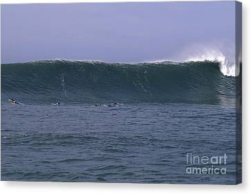 Canvas Print featuring the photograph Huge Mavericks Wall by Stan and Anne Foster