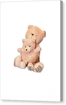 Hugging Bears Cut Out Canvas Print
