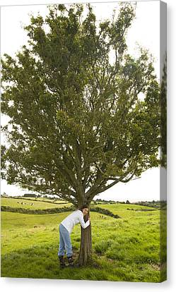 Canvas Print featuring the photograph Hugging The Fairy Tree In Ireland by Ian Middleton