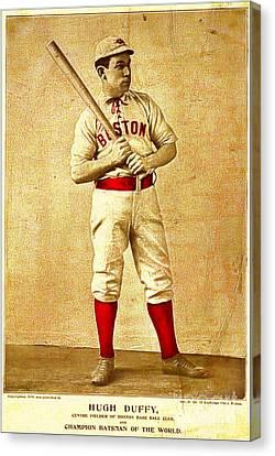 Hugh Duffy Boston Red Sox 1895 Canvas Print