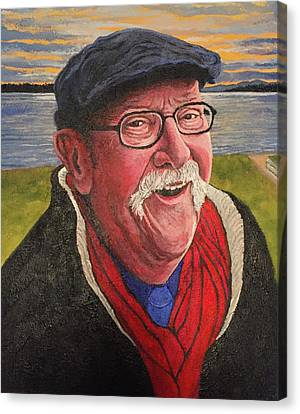Canvas Print featuring the painting Hugh Hanson Davidson by Tom Roderick
