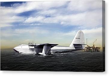 Geese Canvas Print - Hughes H-4 Hercules by Peter Chilelli