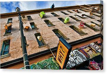 Canvas Print featuring the photograph Hugo Hotel  by Steve Siri