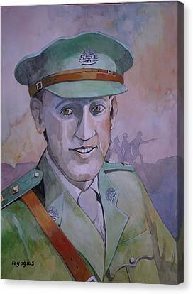 Canvas Print featuring the painting Hugo Throssel Vc by Ray Agius