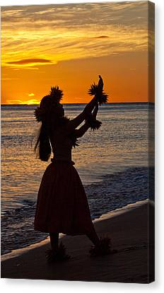 Hula Dancer Canvas Print