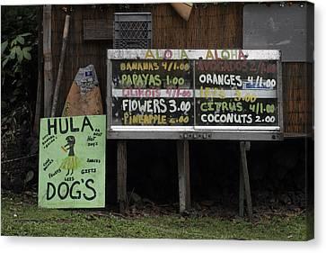 Hula Dogs Canvas Print