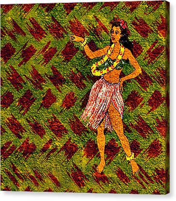 Hula Dreams Canvas Print by Tiki Bender