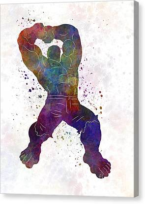 Avengers Canvas Print - Hulk 02 In Watercolor by Pablo Romero