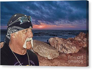 Hulk Hogan At The End Of The Day Canvas Print by Jim Fitzpatrick