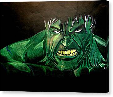 Hulk Canvas Print by Marcus Quinn