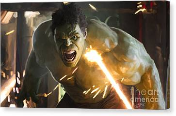 Avengers Canvas Print - Hulk by Paul Tagliamonte
