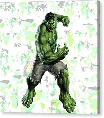 Hulk Splash Super Hero Series Canvas Print by Movie Poster Prints