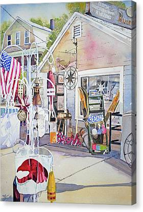Hull Of A Shoppe Canvas Print by P Anthony Visco