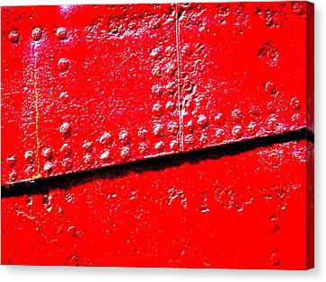 Hull Plate Abstract Enhanced Canvas Print