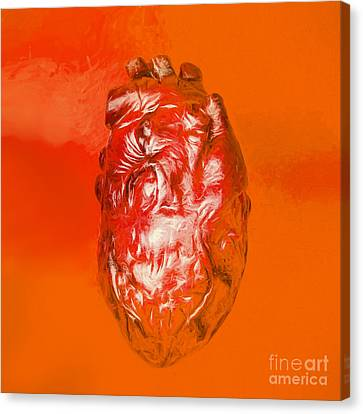 Human Heart In Digital Art Canvas Print by Jorgo Photography - Wall Art Gallery