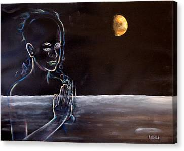 Human Spirit Moonscape Canvas Print by Susan Moore