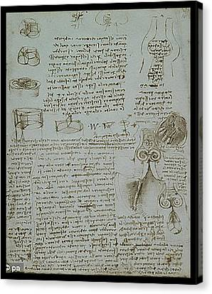 Canvas Print featuring the painting Human Study Notes by James Christopher Hill
