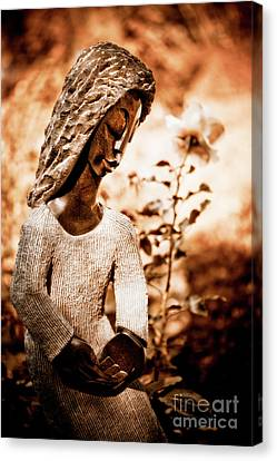 Humble Woman Canvas Print by Venetta Archer