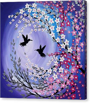 Humming Bird Fantasy Canvas Print by Cathy Jacobs