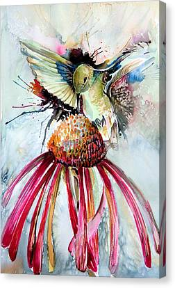 Humming Bird Canvas Print by Mindy Newman