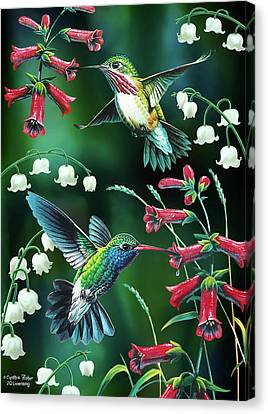 Humming Birds Canvas Print - Humming Birds 2 by JQ Licensing
