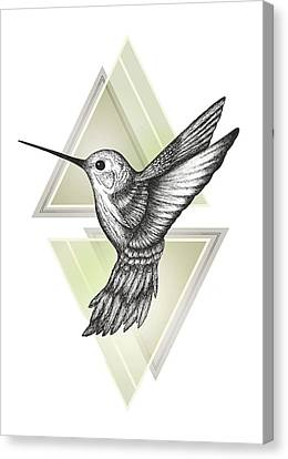 Hummingbird Canvas Print by Barlena