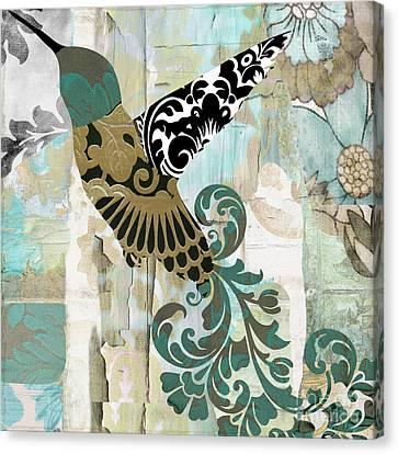 Hummingbird Batik Canvas Print by Mindy Sommers