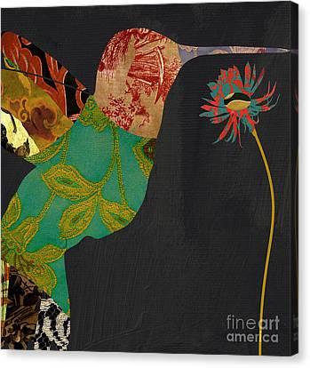Hummingbird Brocade Iv Canvas Print