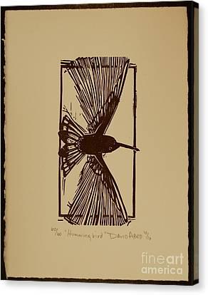 Hummingbird Canvas Print by David Abed