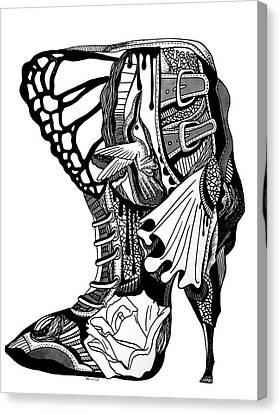 Hummingbird High Heel Canvas Print by Kenal Louis