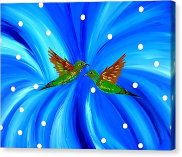 Hummingbird Love Canvas Print