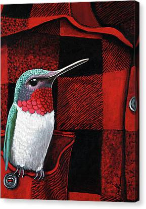 Canvas Print - Hummingbird Memories by Linda Apple