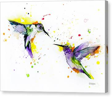 Hummingbird Canvas Print by Slavi Aladjova