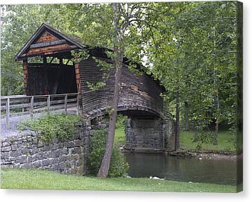 Humpback Covered Bridge In Covington Virginia Canvas Print by Brendan Reals
