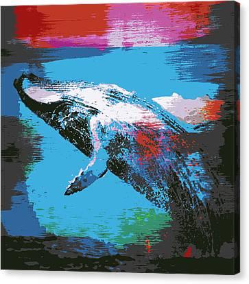 Humpback Wale V1 Canvas Print by Brandi Fitzgerald