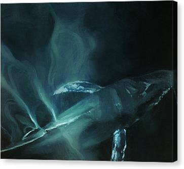 Monotone Canvas Print - Humpback Whale II by Heather Theurer