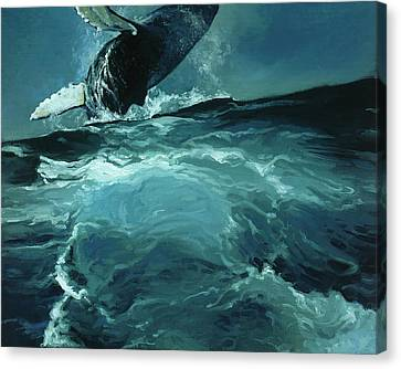 Monotone Canvas Print - Humpback Whale Iv by Heather Theurer