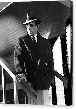 Sam Spade Canvas Print - Humphrey Bogart As Private Detective Sam Spade The Maltese Falcon 1940-2016 by David Lee Guss