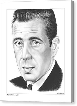 Icon Canvas Print - Humphrey Bogart by Greg Joens
