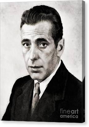 Humphrey Bogart, Hollywood Legend By John Springfield Canvas Print by John Springfield