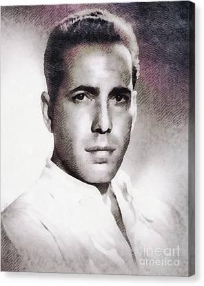 Humphrey Bogart, Vintage Hollywood Legend Canvas Print by John Springfield
