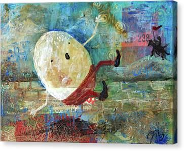 Humpty Dumpty Canvas Print by Jennifer Kelly