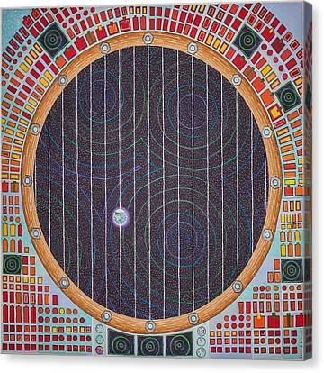Hundertwasser Shuttle Window Canvas Print