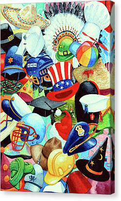 Hundreds Of Hats Canvas Print by Hanne Lore Koehler