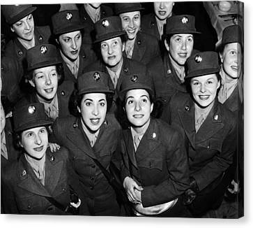 Hundreds Of Women From The Womens Canvas Print by Everett