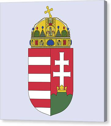 Canvas Print featuring the drawing Hungary Coat Of Arms by Movie Poster Prints