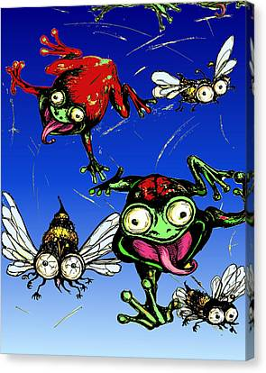 Hungry Frogs Canvas Print