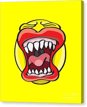 Creepy Canvas Print - Hungry Pacman by Jorgo Photography - Wall Art Gallery